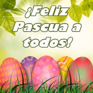 Tarjeta para celebar la Pascua