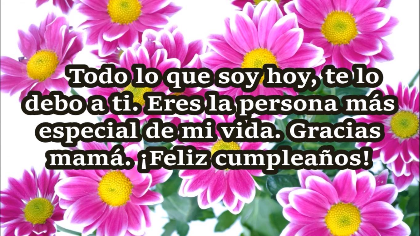 Frases Bonitas De Feliz Cumpleaños Para Mi Madre