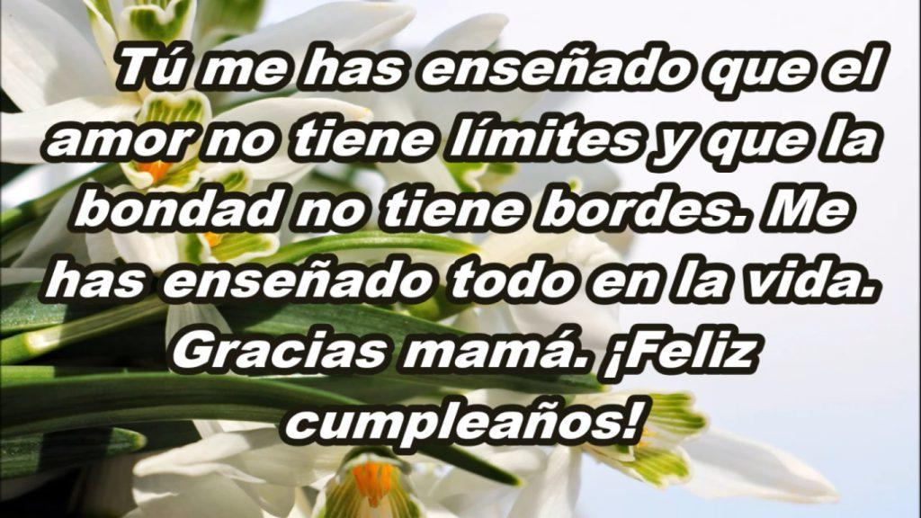 Frase original de cumpleaños para mi Madre querida