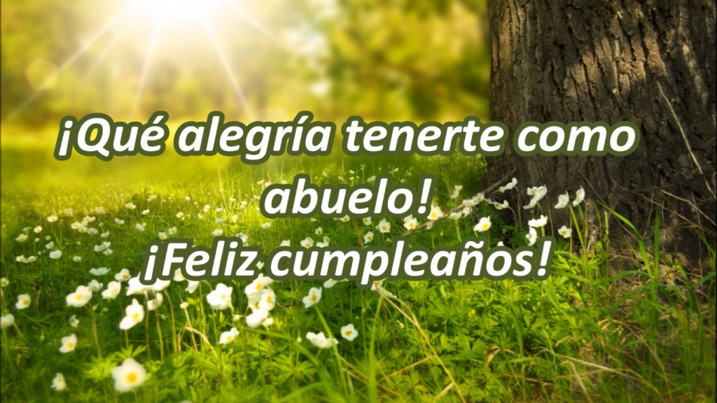 Abuelito ¡Muchas felicidades en tu día!