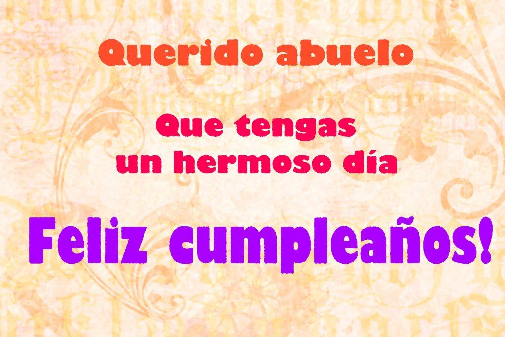 Feliz cumpleaños para mi abuelo querido