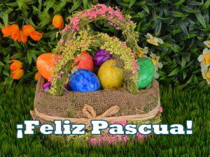 Postal para celebar la Pascua