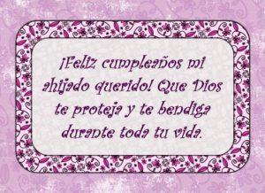 Ahijado maravilloso ¡Feliz cumpleaños!