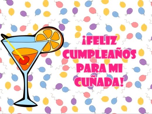 ¡Feliz Cumpleaños para mi cuñada!