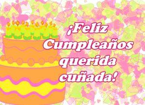Feliz Cumpleaños Cuñada