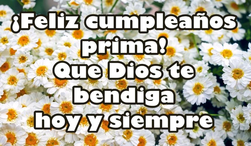 feliz cumpleaños a mi prima querida