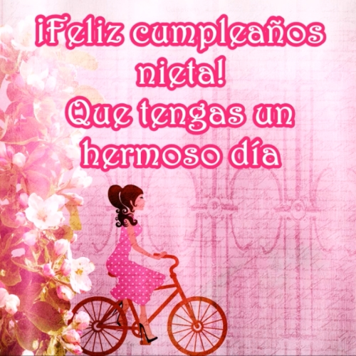 Tarjetas De Cumpleaños Para Mi Nieta Imágenes Y Frases Bonitas