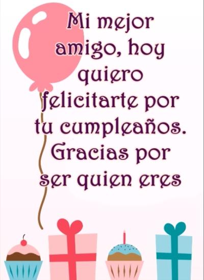 ¡Feliz cumpleaños para mi gran amigo!