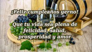 ¡Feliz cumpleaños yerno! Te deseo lo mejor