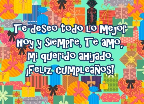 ¡Un Feliz cumpleaños a mi ahijado!