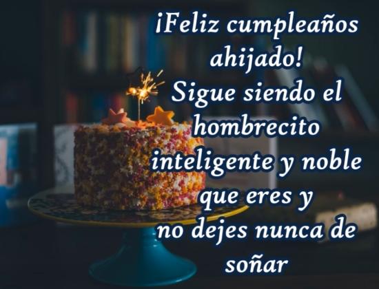 ¡Un Feliz cumpleaños a mi ahijado especial!