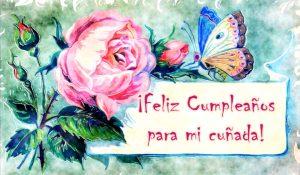 ¡Feliz Cumpleaños Cuñada!