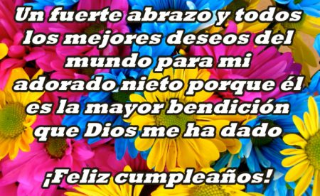 ¡Feliz cumpleaños, mi nieto querido!