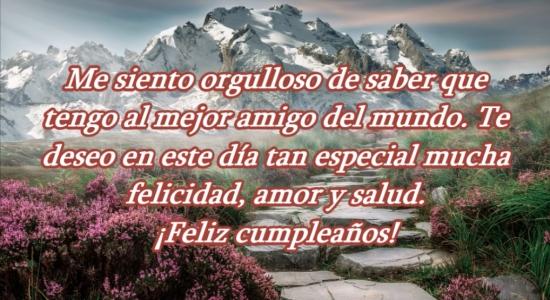 Feliz cumpleaños para mi mejor amigo