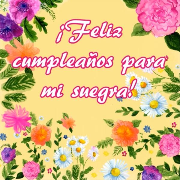 Feliz cumpleaños para mi suegra