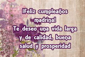 ¡Un Feliz cumpleaños a mi madrina!