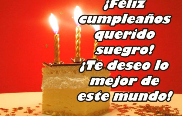 Feliz cumpleaños mi querido suegro