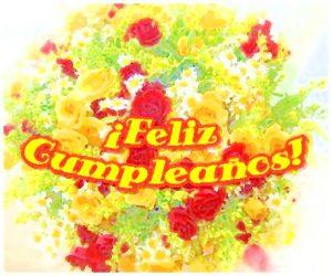 Feliz Cumpleaños Tarjeta virtual con flores