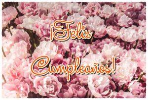 Feliz Cumpleaños imagen con flores