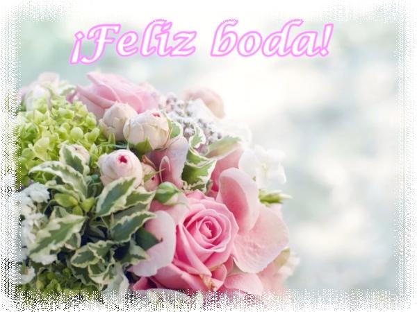 IMÁGEN BONITA DE BODA para felicitar a los novios