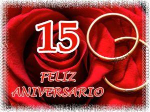 15 Aniversario de bodas