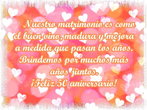 Feliz 50 Aniversario De Bodas Imágenes Y Frases Bonitas