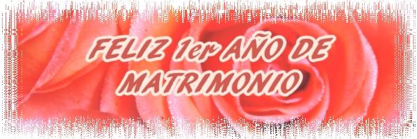 FELIZ 1er AÑO DE MATRIMONIO