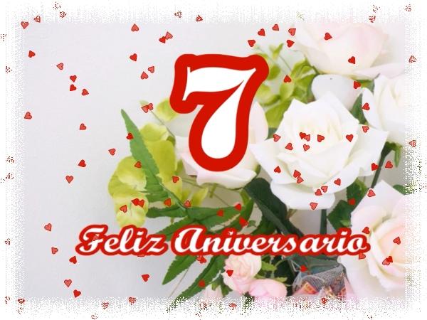 7 años de casados FELIZ ANIVERSARIO