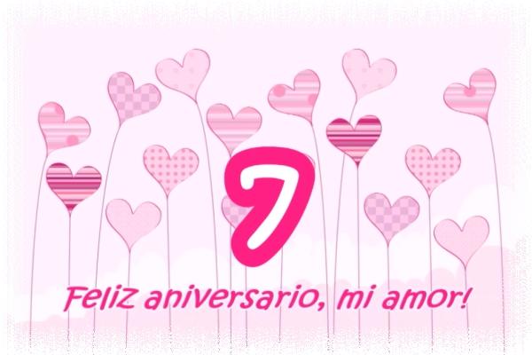 Feliz Aniversario Mi Amor: Felicitaciones Por Los Siete Años De Matrimonio ¡Feliz