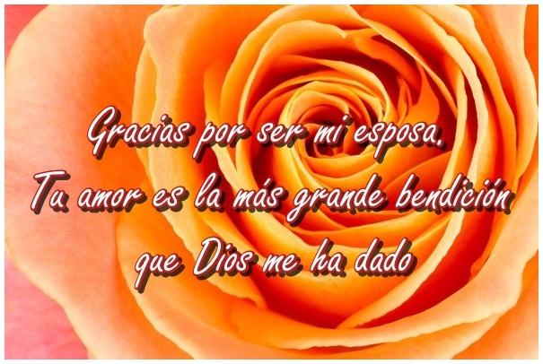 Gracias por ser mi esposa. Tu amor es la más grande bendición que Dios me ha dado