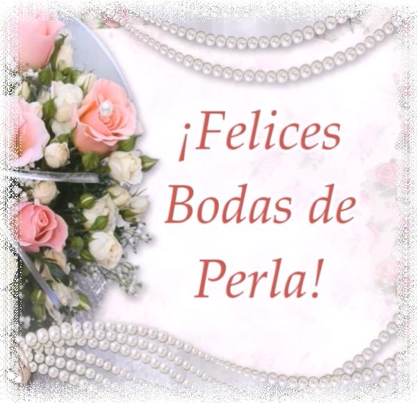 ¡Felices Bodas de Perla!