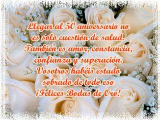 Feliz 50 Aniversario de Bodas!