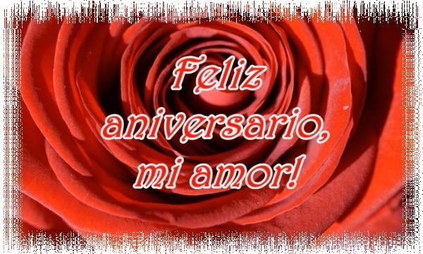 Feliz aniversario mi amor!