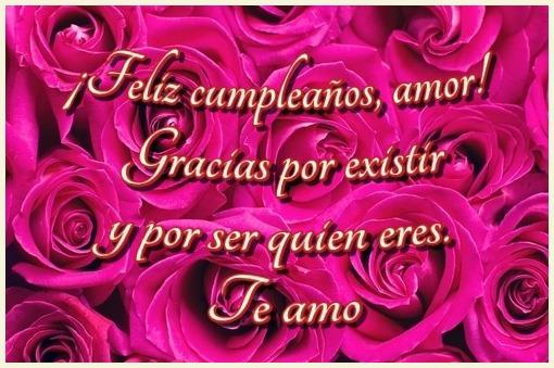 ¡Feliz cumpleaños, amor! Gracias por existir y por ser quien eres. Te amo