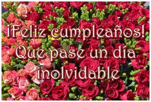 Tarjeta de Feliz Cumpleaños con rosas