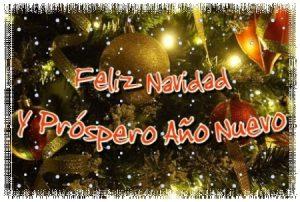 Tarjeta para desear Feliz Navidad y Próspero Año Nuevo