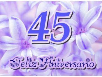 Tarjeta virtual de Feliz 45 Aniversario