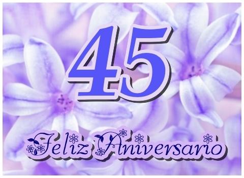 Tarjeta del 45 Aniversario de bodas Feliz Aniversario