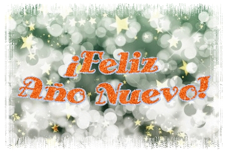 Tarjeta con frase ¡Feliz Año Nuevo!