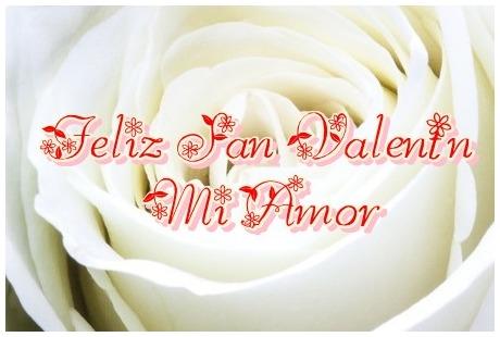 Tarjeta de San Valentín Rosa Blanca