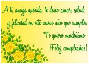 Feliz Cumpleaños Amiga A ti, amiga querida, te deseo amor, salud, y felicidad