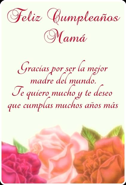 Feliz cumpleaños mamá! Linda imagen para descargar y enviar gratis