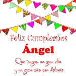 ¡Feliz Cumpleaños, Ángel! | Imágenes para descargar y enviar gratis