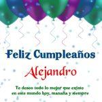 ¡Feliz Cumpleaños, Alejandro! Imágenes Para descargar y enviar gratis