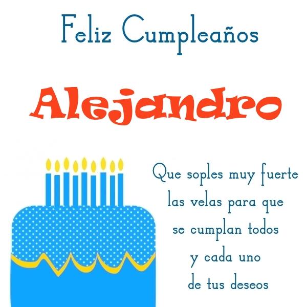 ¡Feliz Cumpleaños, Alejandro! Imágenes Para descargar y enviar gratis (4)