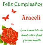 ¡Feliz Cumpleaños, Araceli! | Imágenes para descargar y enviar gratis