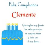 ¡Feliz Cumpleaños, Clemente!   Imágenes para descargar y enviar gratis