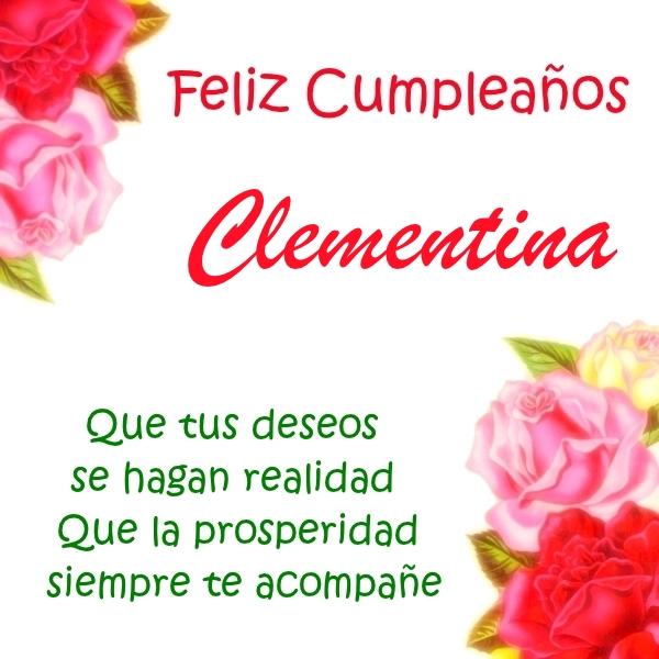 ¡Feliz Cumpleaños, Clementina! Imágenes para descargar y enviar gratis (4)