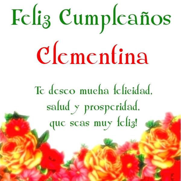 ¡Feliz Cumpleaños, Clementina! Imágenes para descargar y enviar gratis (5)