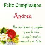 ¡Feliz Cumpleaños, Andrea! | Imágenes para descargar y enviar gratis